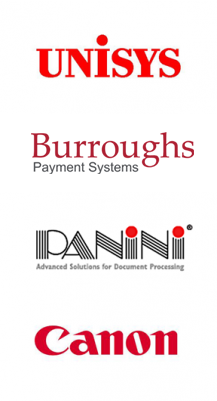 Burroughs, Canon, Panini, and Unisys